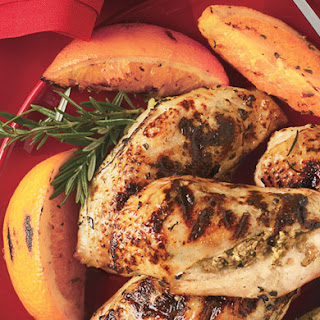 Stuffed Chicken Breasts with Rosemary-Orange Dressing.