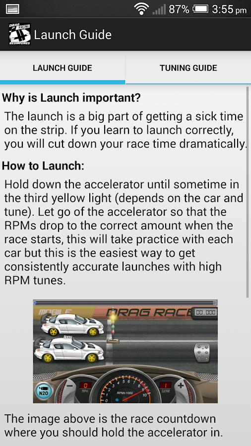 Drag Racing Best Tunes - screenshot