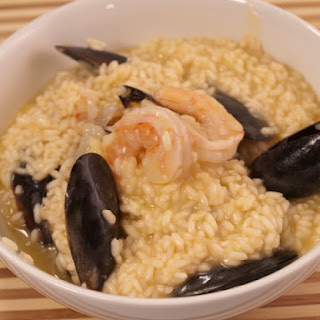 Shrimp And Mussels Risotto.