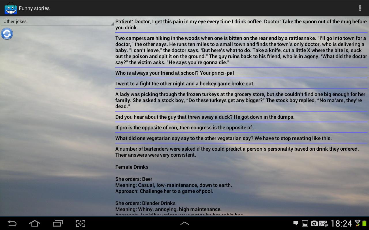 Funny stories - screenshot