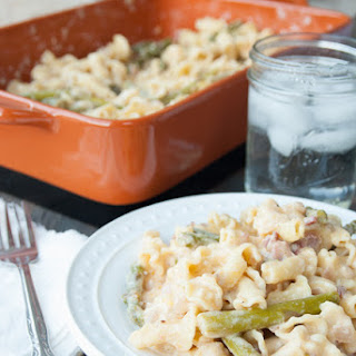 Asparagus and Bacon Macaroni and Cheese.