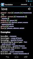 Screenshot of Italian English Dictionary +