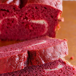 Red Velvet Quick Bread with Cream Cheese Filling