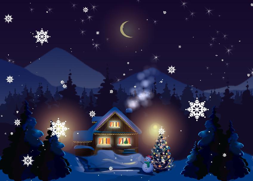 Fondo De Pantalla 3d De Navidad De Santa Vas De Luna Hd: Christmas Land Wallpaper PRO