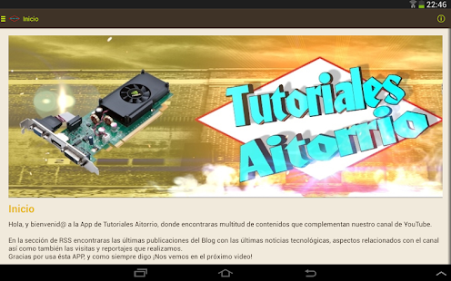 Tutoriales Aitorrio APP- screenshot thumbnail