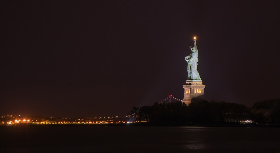 Liberty's Lamp is Lit. Always. by Richard Duerksen - City,  Street & Park  Historic Districts ( statue of liberty, freedom, miss liberty, liberty park, nyc )