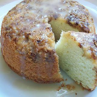 Vanilla Walnut Poundcake with Orange Vanilla Glaze