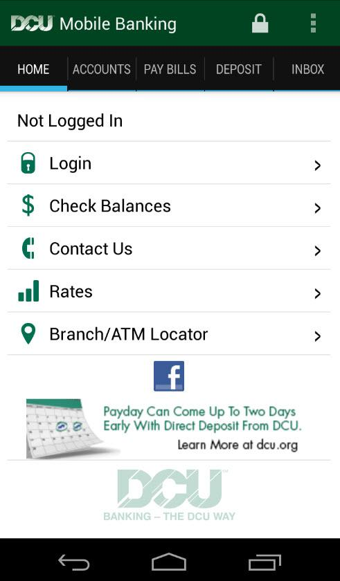 DCU Mobile Banking- screenshot