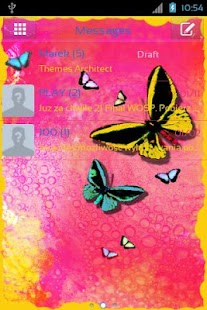 GO SMS Pro Theme Butterfly- screenshot thumbnail