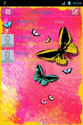 GO SMS Pro Theme Butterfly- screenshot