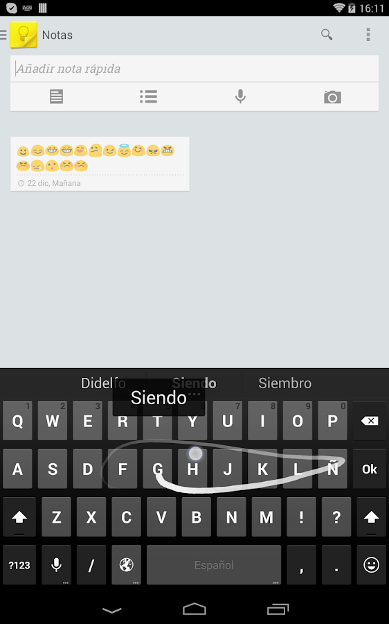 Emoji Keyboard - Spanish Dict - screenshot