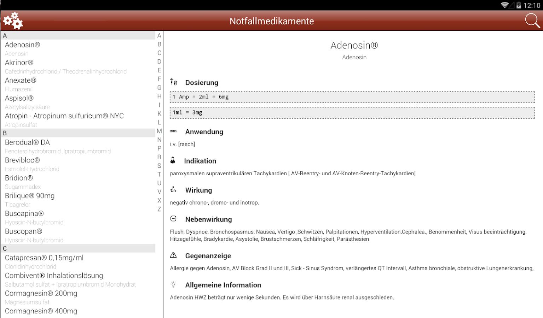 Notfall Medikamente - screenshot