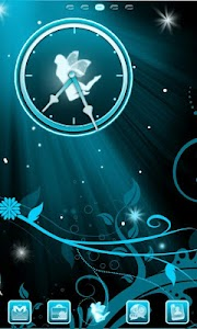 Fairy Blue Clock screenshot 0
