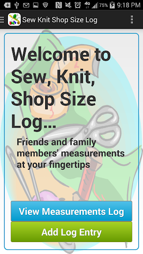 Sew Knit Shop Size Log