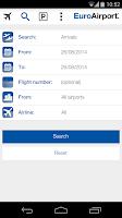 Screenshot of EuroAirport