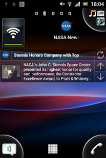 NASA NEWS reader RSS widget