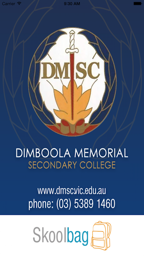 Dimboola MSC - Skoolbag- screenshot