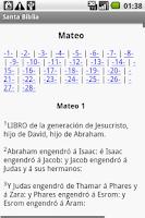 Screenshot of Santa Biblia