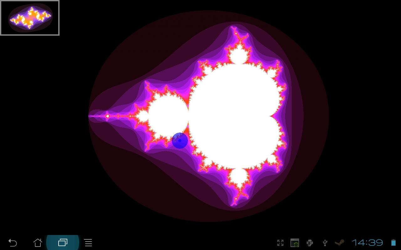 Mandelbrot Maps- screenshot