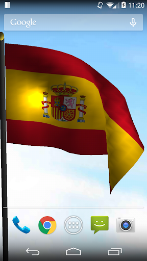 3D Spain Flag Live Wallpaper