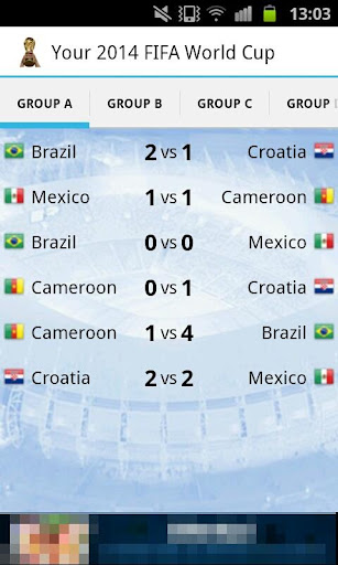Your 2014 Football World Cup