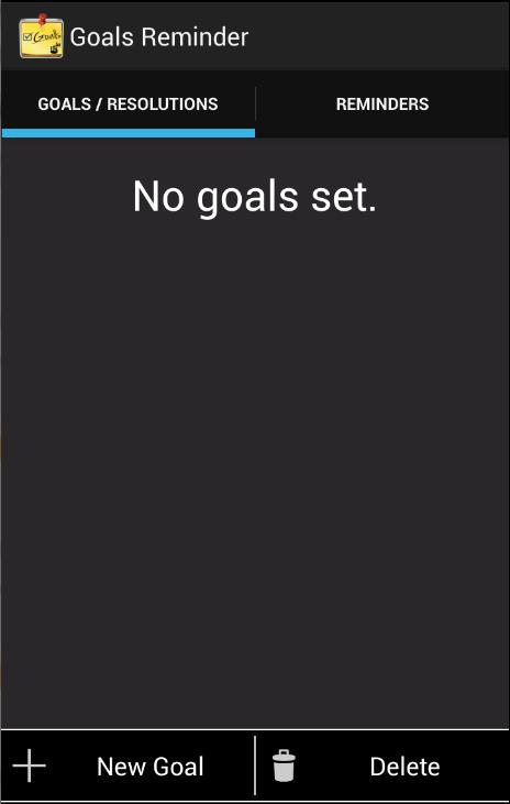 Goals Reminder- screenshot