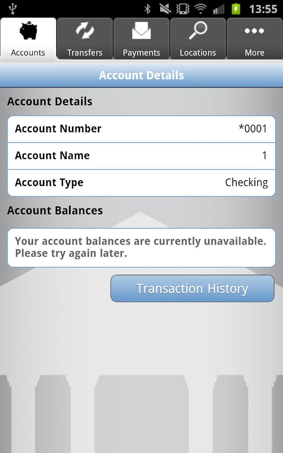 TouchBanking - screenshot