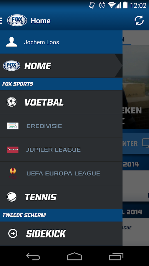 FOX Sports NL - screenshot
