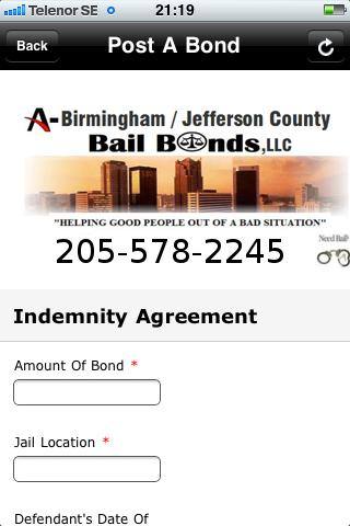 205 Bail Bonds - screenshot
