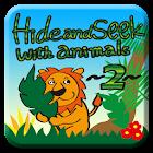 Hide & Seek with animals2 Kids icon