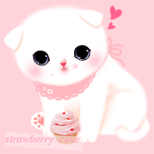CUKI Theme Pink cake cat