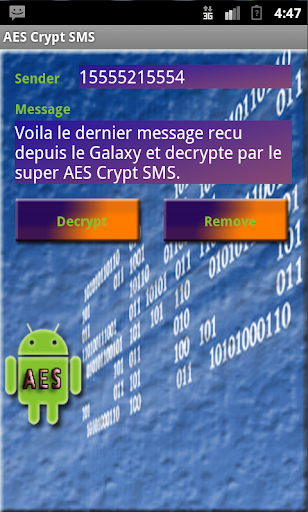 AES Crypt SMS