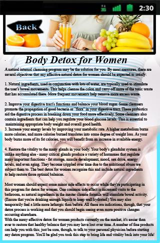 Body Detox for Women