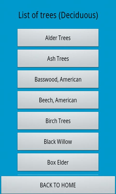 North East Tree Identification - screenshot