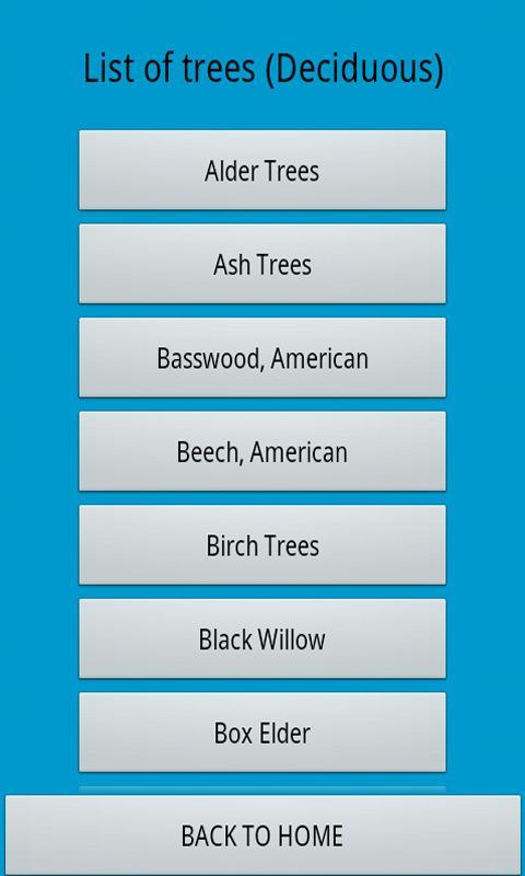 North East Tree Identification - screenshot