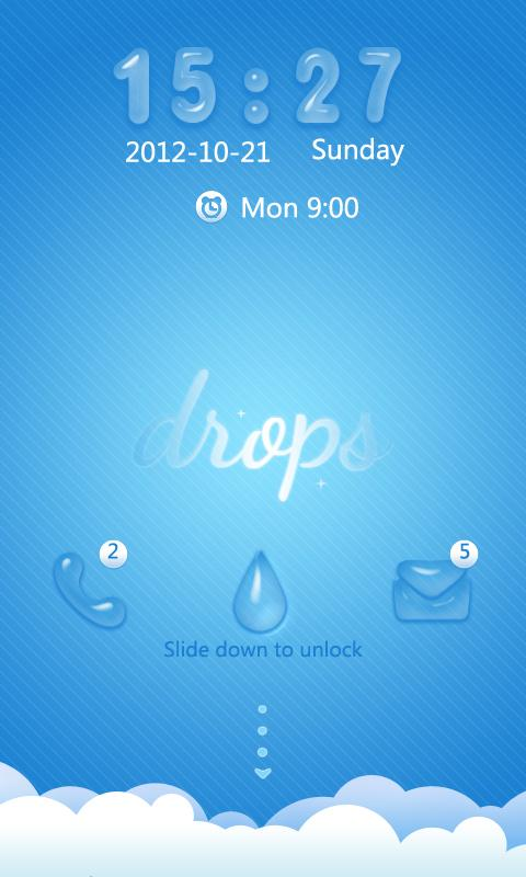S-SlidingDrops GO Locker Theme - screenshot
