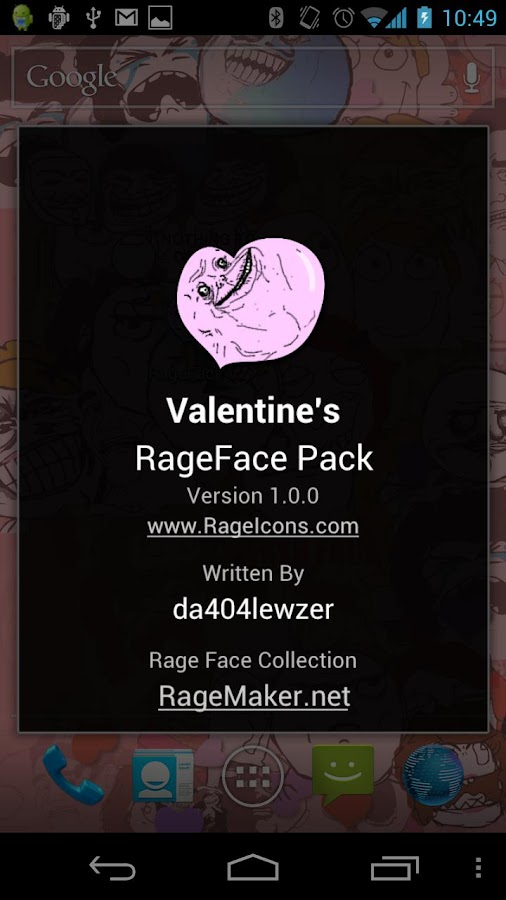 RageFace Valentine's Pack - screenshot