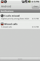 Screenshot of Missed Call Priority