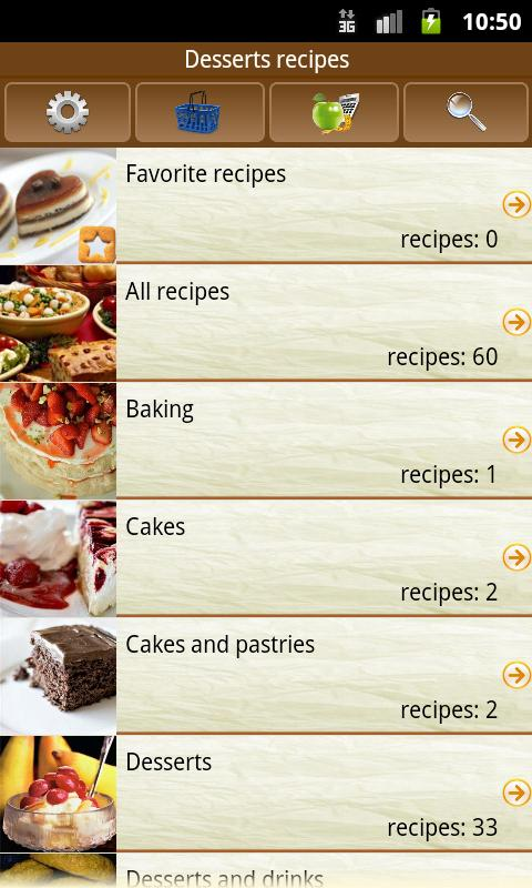Desserts recipes - screenshot