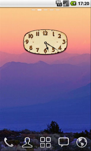 Old Tin Clock Widget