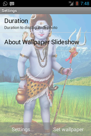 Shiv Darshan Live Wallpaper- screenshot