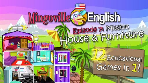 儿童英语 7:Mingoville中的'房屋和家具'