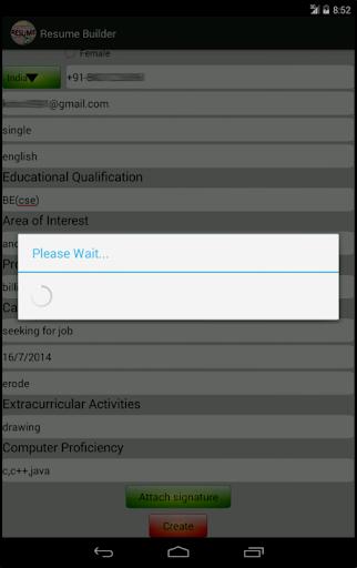 my resume builder cv free apk hvac application