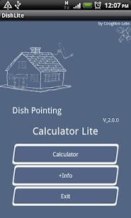 Dish Pointing Calculator Lite- screenshot thumbnail