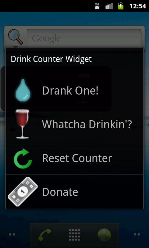 Drink Counter Widget - screenshot