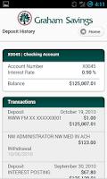 Screenshot of Graham Savings