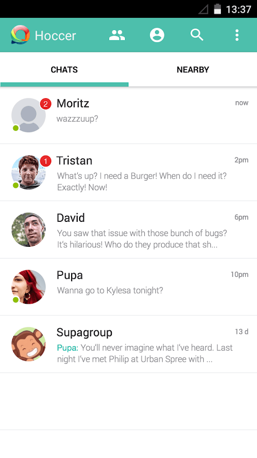 Hoccer – the secure Messenger - screenshot