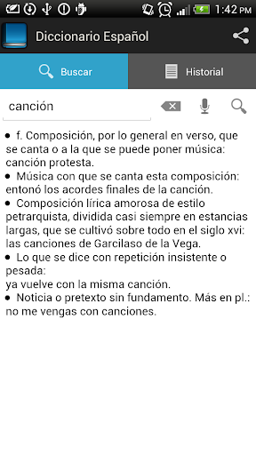 Spanish dictionary 1.6.8 screenshots 3