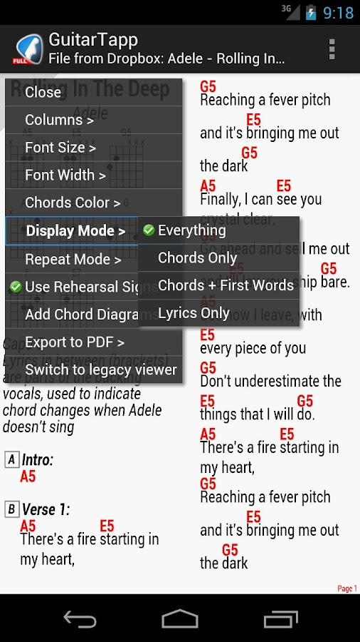 GuitarTapp PRO - Tabs & Chords - screenshot