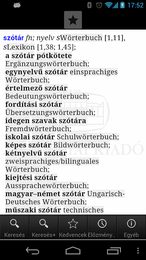 Hungarian-German Dictionary L- screenshot
